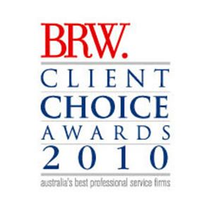 BRW Client Choice Awards