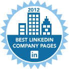 LinkedIn best company pages for 2012