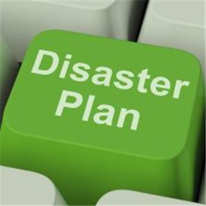 A generic pic of a disaster plan button