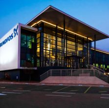 An image of Grundfos offices and warehouse