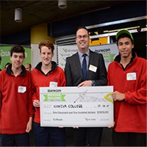 Kaniva College, Victoria, Australia, crowned international overall winner of the 2015 Aurecon Bridge Building Competition