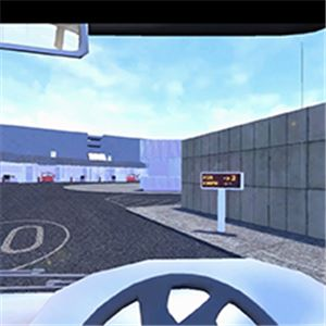 Red Bus drivers using virtual simulator