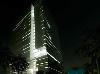 Abdul Latif Jameel Headquarters night view (Courtesy: Aedas)