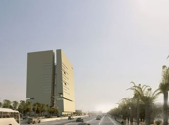 Abdul Latif Jameel Headquarters view from street - west (Courtesy: Aedas)