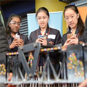 Sacred Heart Girls College Oakleigh students at the 2017 Aurecon Bridge Building Competition