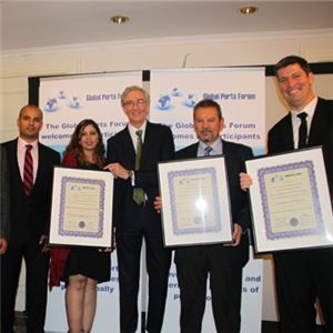 Aurecon received six awards at the Global Ports Forum Awards 2017