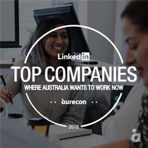 Aurecon is  named as one of the most sought-after employers in Australia by LinkedIn.