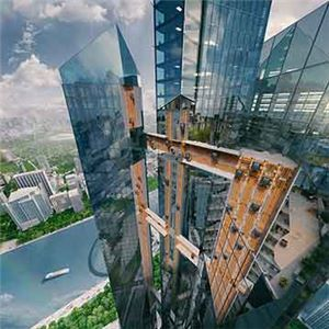 The MULTI is world's first rope-free elevator designed by Thyssenkrupp Elevator