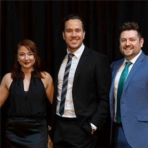 Aurecon's recruitment and marketing communications team receiving the AGRIAs 'Award for Most Popular Integrated Marketing Campaign (Private Sector)'.