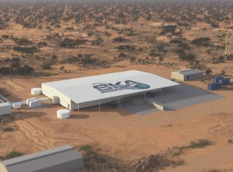 Artist's impression of the supercomputing facility for the future Square Kilometre Array – the world's largest radio telescope, to be built at CSIRO's Murchison Radio-astronomy Observatory, in outback Western Australia.