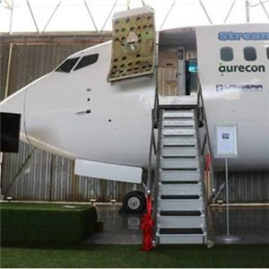 Aurecon funded the structure on which the aircraft laboratory stands at Lanseria Airport in north-west Johannesburg.