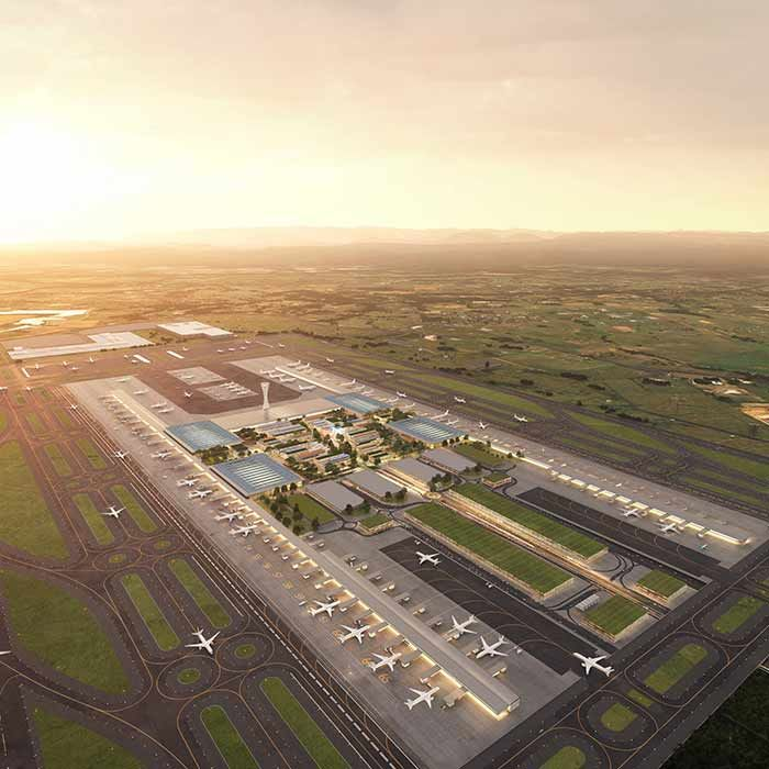 Aurecon has been appointed terminal precinct engineer for the Western Sydney International airport. Image courtesy of Western Sydney Airport