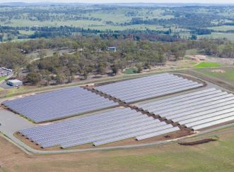 The University of New England solar farm is built on university grounds adjacent to the Armidale campus in northeastern New South Wales.