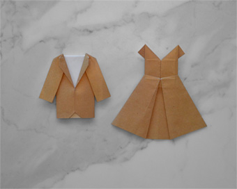 Origami dress and suit