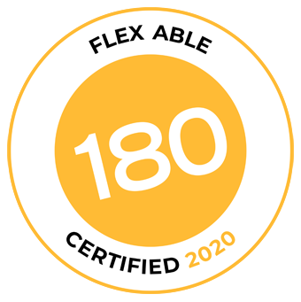 Flex Able Certification is awarded to organisations and the company's employees work to ensure flexible work options are a reality.