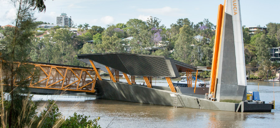 Brisbane's elegant, flood-resilient and wheel-chair accessible ferry terminals