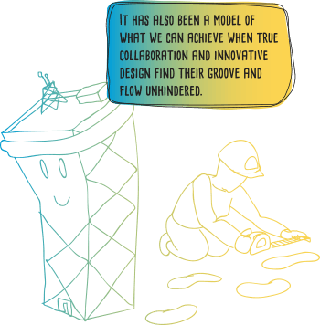 road worker and rubbish bin BOTF quote