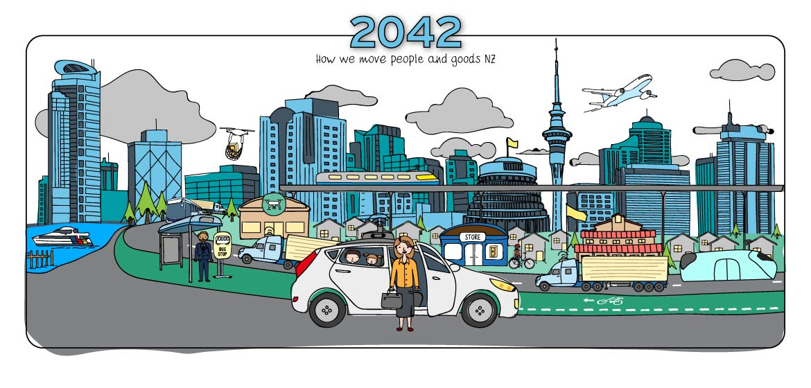 What will the future of New Zealand transport be like in 2042?