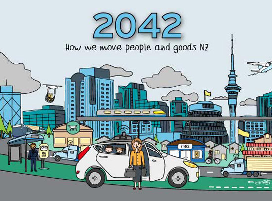 What will the future of New Zealand transport look like in 2042?