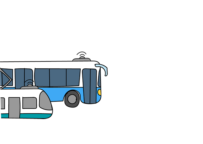 A pre-booking system for seats/spaces on certain buses, trams or trains.