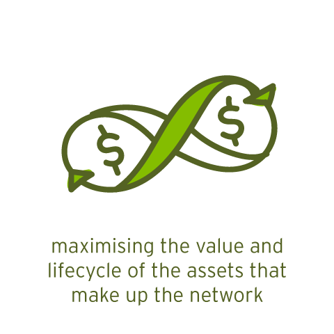 maximising value and lifecycle of the assets that make up the network
