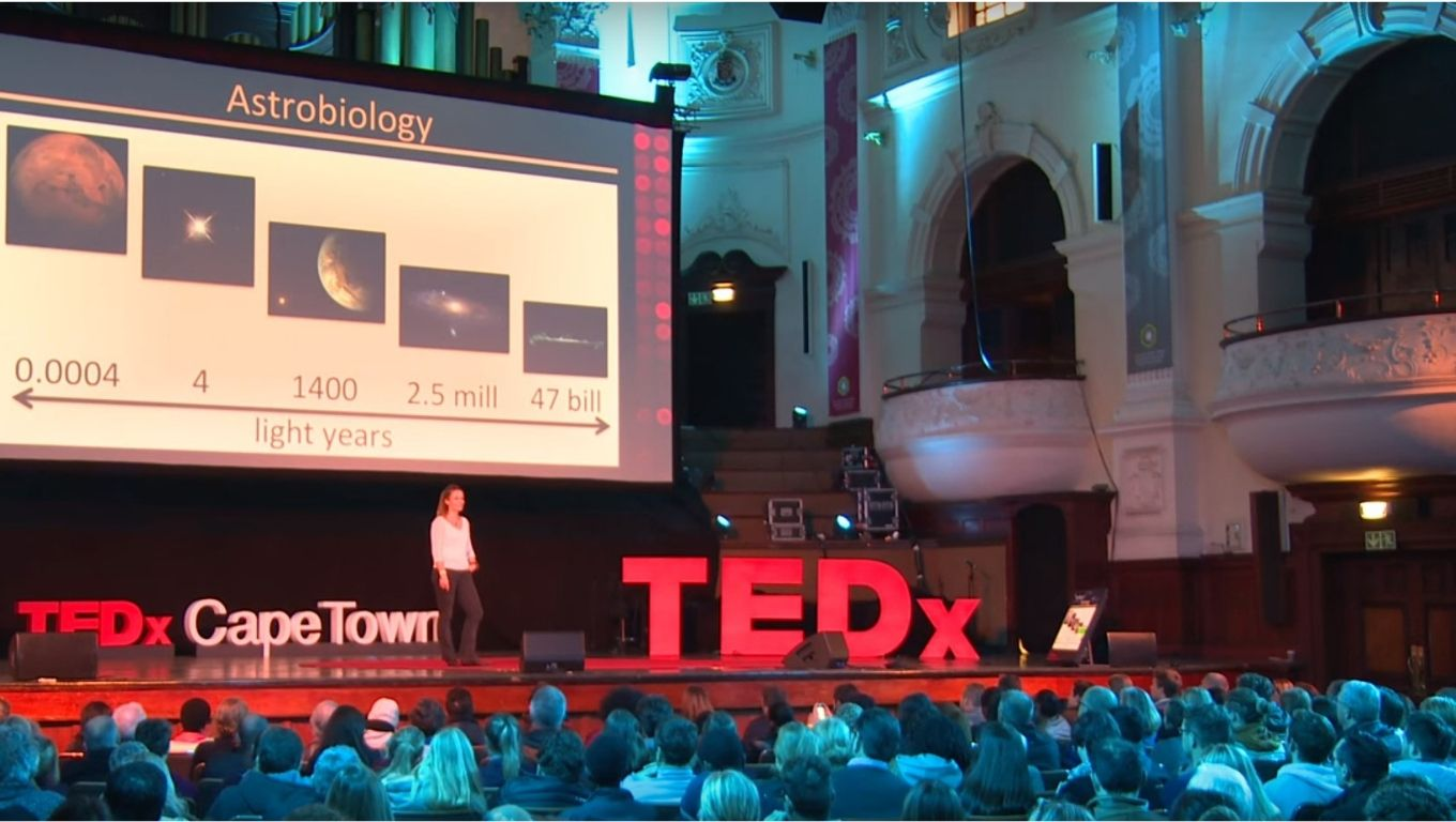 Adriana Marais speaking at TEDx in Cape Town, South Africa