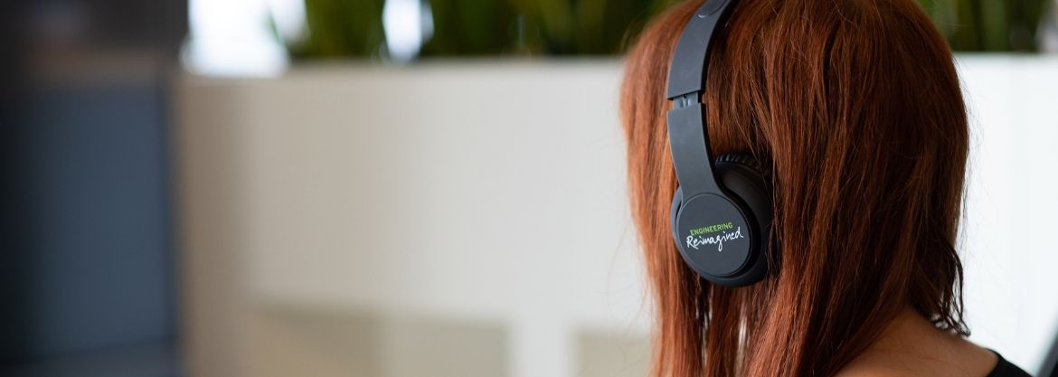 Headset branded Engineering Reimagined