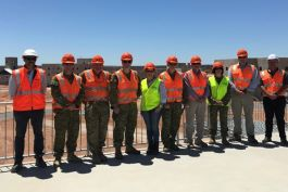 Defence stakeholders, the Aurecon team and other contractors visit the Cultana Training Area Development project site.
