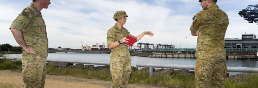 Australian Defence staff inspecting various environmental areas around the Defence Fuels Facilities. Image courtesy of Australian Government Department of Defence.