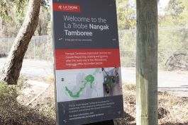 The project required engaging the Wurundjeri people and the wider community to create a new identity for one of Melbourne's most bio-diverse eco-corridors.  Image courtesy of La Trobe University.