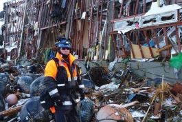 A photo of urban search and rescue in Japan