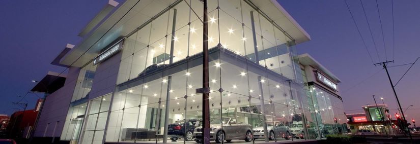 BMW Showroom Adelaide - At night