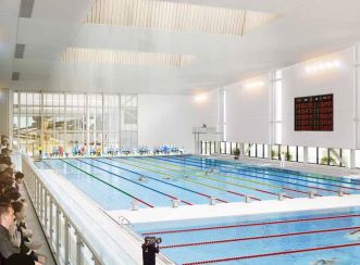 The facility will boast a 50m, ten-lane competition swimming pool, a separate diving pool, a large aquatic leisure area.