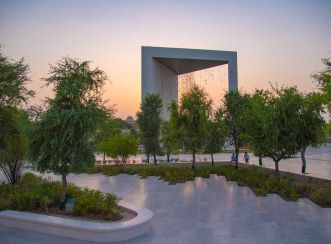 Aurecon designed The Constellation, a 3-D portrait of Sheikh Zayed, framed within a 30-metre tall prism-like pavilion that is open on two sides