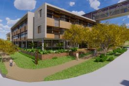 Aurecon delivers the construction of a new mental health facility for the care and well-being of people in Ipswich Hospital in Queensland. Concept Design.