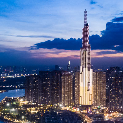 Aurecon  managed all engineering work related to the building services, as well as the lighting and the façade of Landmark 81