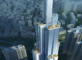 Landmark 81 view from above (architect rendering courtesy of Atkins)