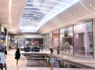 The mall sports over 130 000m2 of retail space over two levels