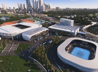 The Melbourne Park redevelopment will cater to the growing popularity of the Australian Open and is designed to secure the future of the event in Melbourne. Image courtesy of Victorian Government Melbourne Park Redevelopment.
