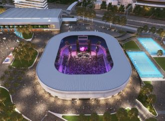 Melbourne Park delivers a year-round calendar of events, as well as the Australian Open and attracts more than 2.5 million visitors annually. Image courtesy of Victorian Government Melbourne Park Redevelopment.