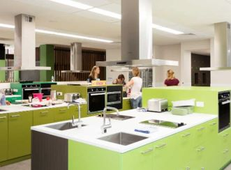 Communal kitchen facility at the Ronald McDonald House in South Brisbane.