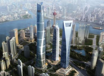 An illustration of Shanghai Tower