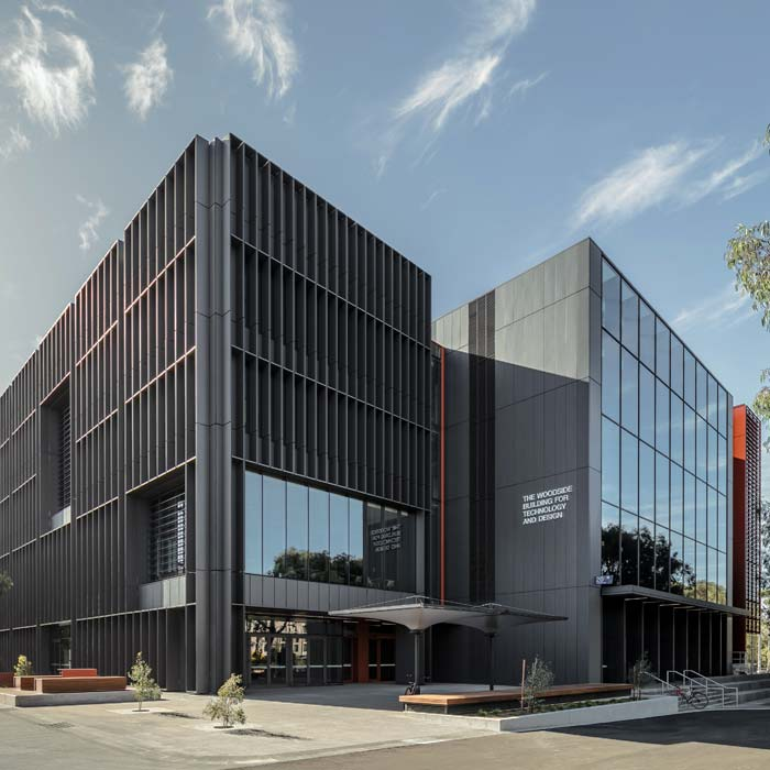 Aurecon's integrated design approach helped bring the innovative Woodside Building for Technology and Design to life for Melbourne's Monash University. Image courtesy of Grimshaw Architects.