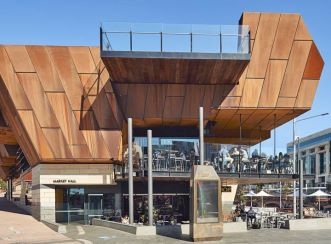 This market hall for local businesses, cafes and restaurants is available in Yagan Square. Image courtesy of Peter Bennetts