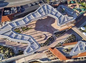 Perth's Yagan Square connects the CBD to the Northbridge cultural precinct for the first time in over 100 years. Image courtesy of Peter Bennetts