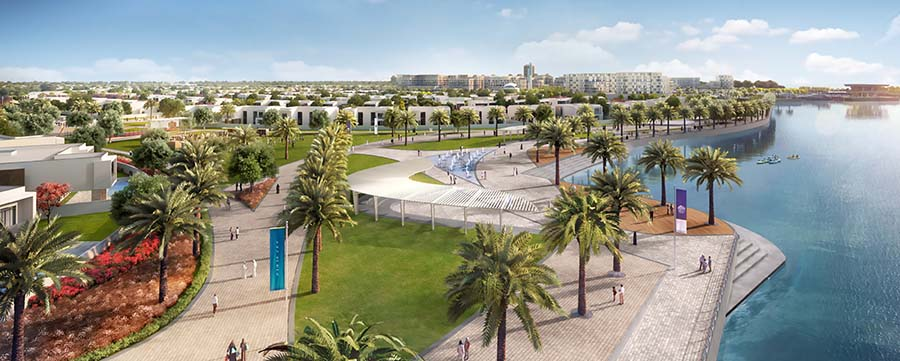 Yas Acres promenade view (Image courtesy of Aldar Properties PJSC)