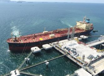 This project was completed in April 2020 and received its first oil tanker, the 50 000 DWT oil tanker MAERSK MUROTSU on 20 April 2020. Image courtesy of Thai Oil Public Company Limited.