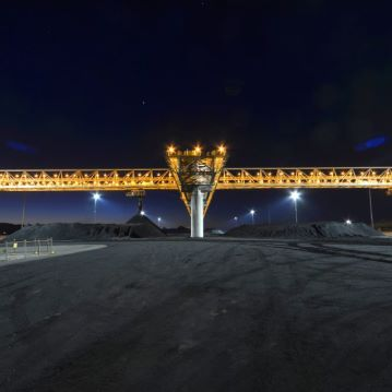 Wiggins Island Coal Terminal - Stacker at night