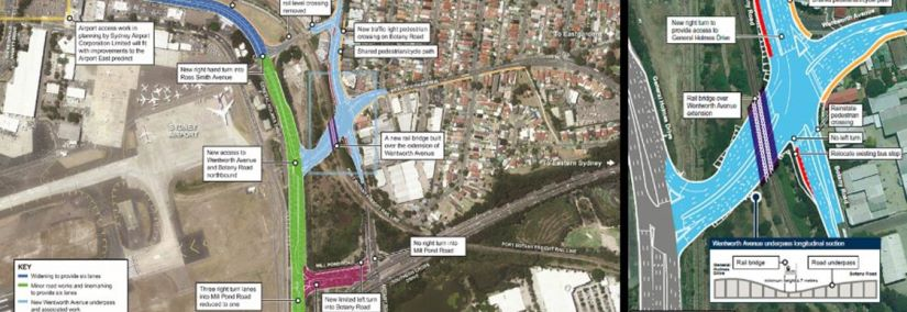 Aurecon engaged to New South Wales Roads and Maritime Services for upgrading roads east of Sydney Airport and Port Botany precinct.