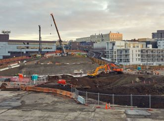 Part of CRL's Mt Eden site, the southern end of the project when the tunnels join the wider Auckland rail